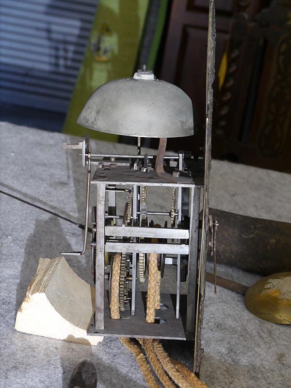 Standuhr Bodenstanduhr Antik Uhr um 1800 aus Obstholz (6277) – Bild 5