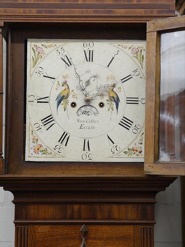 Standuhr Bodenstanduhr Uhr Antik um 1800 Sam. Collier Eccles (6283) – Bild 3