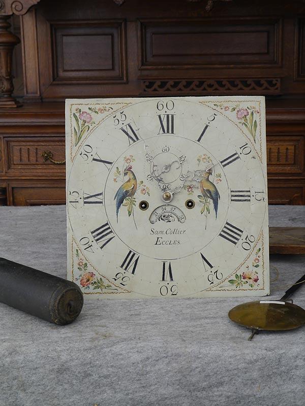 Standuhr Bodenstanduhr Uhr Antik um 1800 Sam. Collier Eccles (6283) – Bild 7