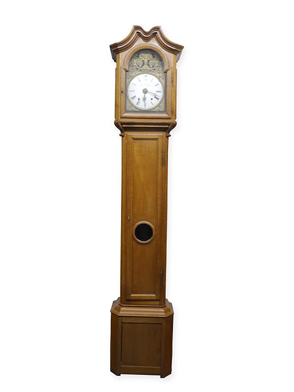 Standuhr Bodenstanduhr Uhr Belgisch um 1850 aus Eiche (6285) – Bild 1