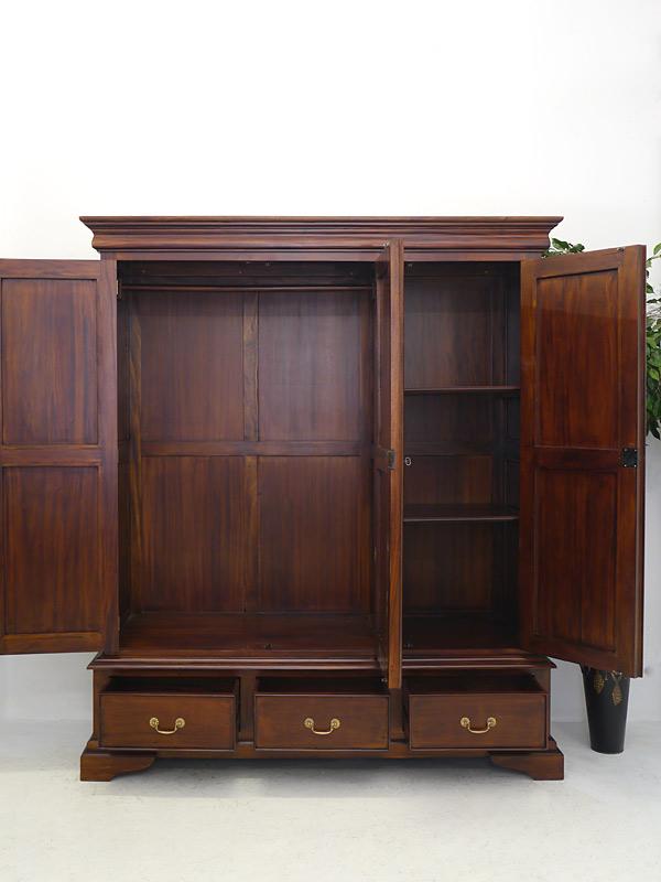 kleiderschrank schrank dielenschrank 3 t rig massivholz b 180 cm 6293 m bel schr nke. Black Bedroom Furniture Sets. Home Design Ideas