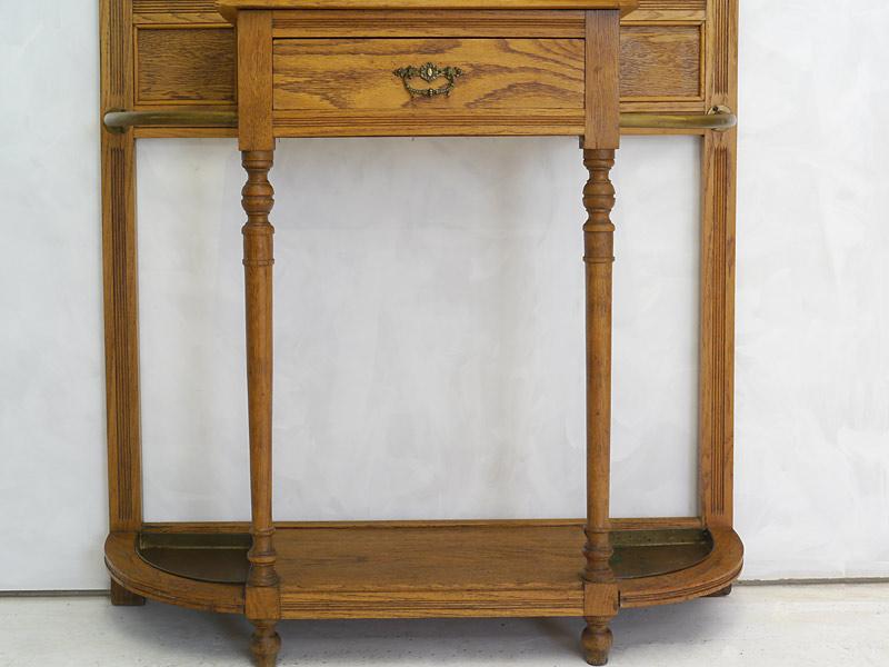 Garderobe Wandgarderobe Flurgarderobe Dielenmöbel Antik um 1910 Eiche (6327) – Bild 6