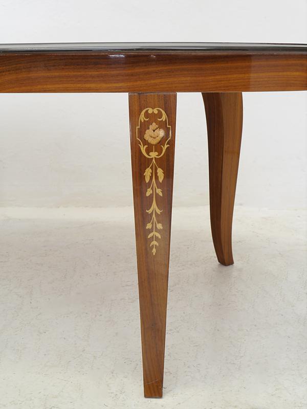Couchtisch Wohnzimmertisch Salontisch Tisch im antiken Stil mit Intarsien (6331) – Bild 4