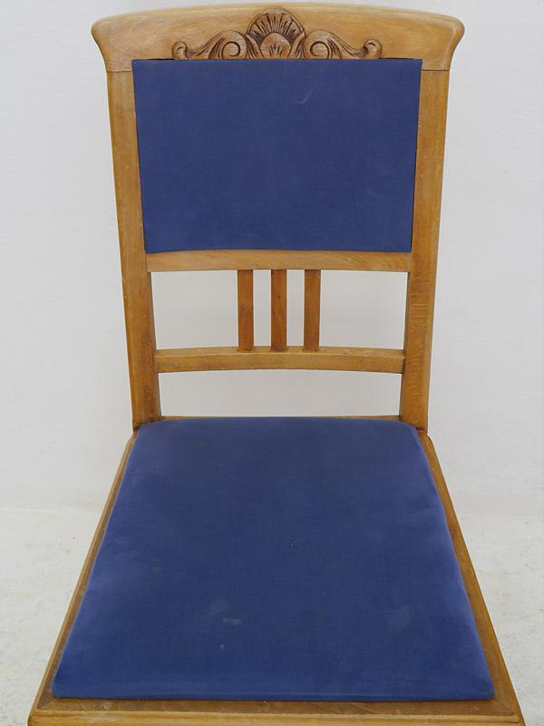 4 Stühle Lehnstühle Sitzmöbel Antik um 1940 Buche mit Sitzpolster (6338) – Bild 5