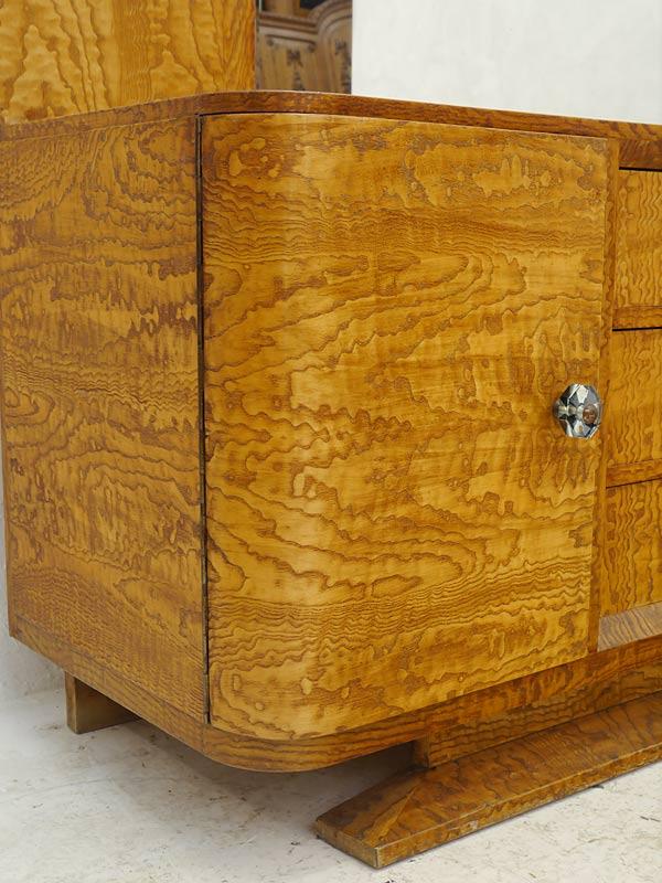 Spiegelkommode Frisierkommode Schminkkommode Vintage um 1940/50 B: 135 cm (6341) – Bild 6