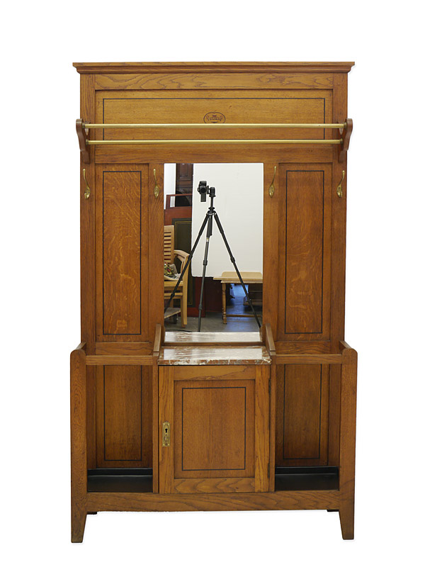 garderobe wandgarderobe flurgarderobe antik um 1930 eiche massiv b 120cm 6346 garderoben. Black Bedroom Furniture Sets. Home Design Ideas