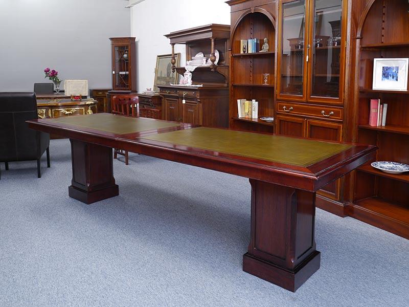 Konferenztisch Besprechungstisch Studio Globe Wernicke Antik Stil L:293cm (6378) – Bild 2