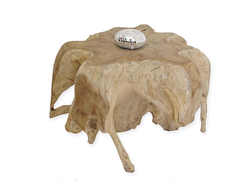 Beistelltisch Tisch Couchtisch aus Teakholz in wildwüchsiger Ausführung (6407) – Bild 1