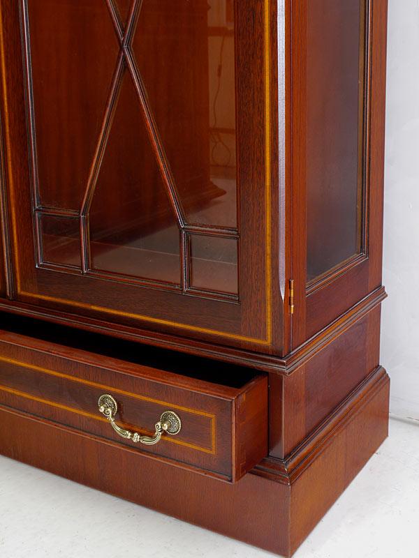 Vitrine Glasvitrine Vitrinenschrank englischer Stil Mahagoni + Intarsien (6459) – Bild 8