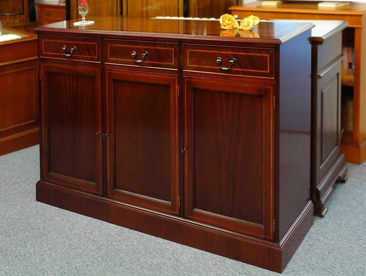 sideboard kommode mahagoni 3trg antik stil 646 kommoden. Black Bedroom Furniture Sets. Home Design Ideas