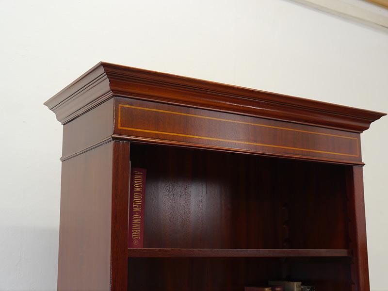Regal Bücherregal aus Mahagoni im englischen Stil mit edlen Bandintarsien (6470) – Bild 3