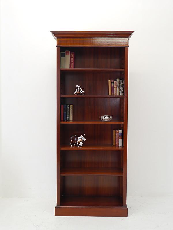 Regal Bücherregal aus Mahagoni im englischen Stil mit edlen Bandintarsien (6470) – Bild 2