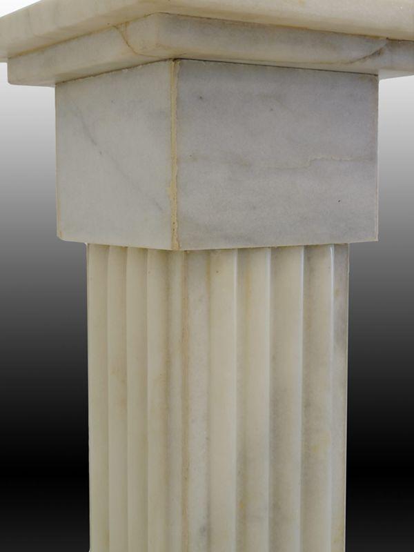 Blumensäule Säule Standsäule Antiker Stil aus weißen Marmor 89x29x29 cm (6541) – Bild 3