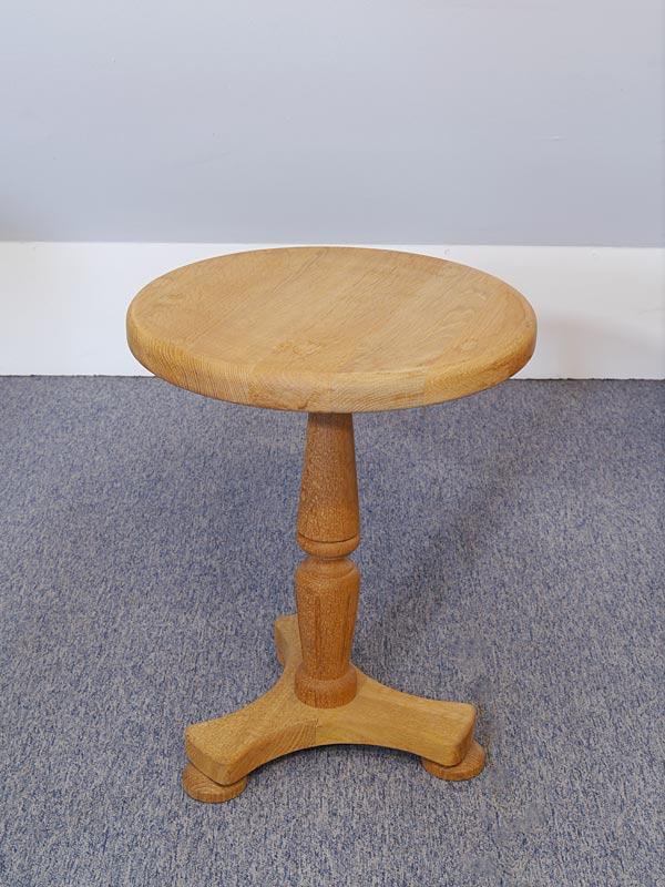 Beistelltisch Tisch Blumentisch Blumensäule antiker Stil Eiche H: 51 cm (6578) – Bild 4