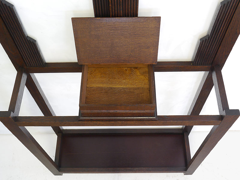 Garderobe Flurgarderobe Wandgarderobe um 1930 aus Eiche massiv B: 74 cm (6606) – Bild 5