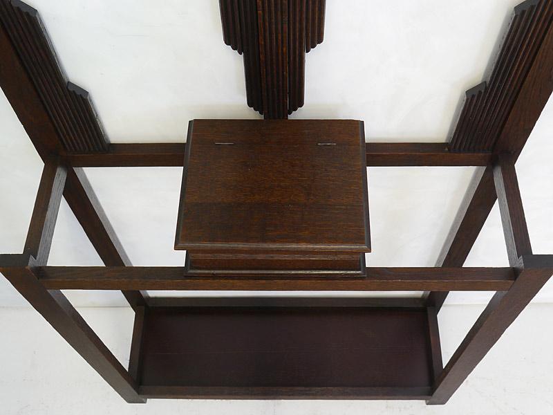 Garderobe Flurgarderobe Wandgarderobe um 1930 aus Eiche massiv B: 74 cm (6606) – Bild 4
