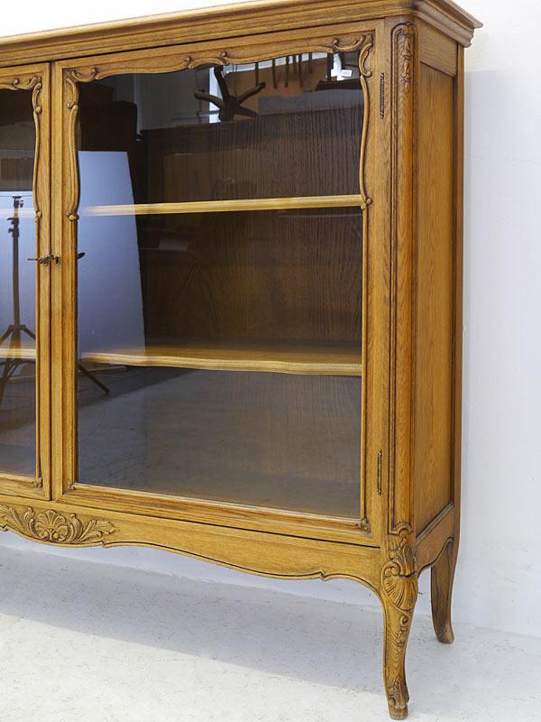 Vitrine Vitrinenschrank Glasvitrine Rokoko Stil Eiche teilmassiv B: 149cm (6641) – Bild 4