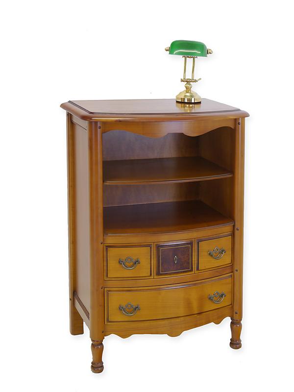 Telefonschrank Telefontisch Beistelltisch Antik Stil  Kirschbaum furniert (6721) – Bild 1