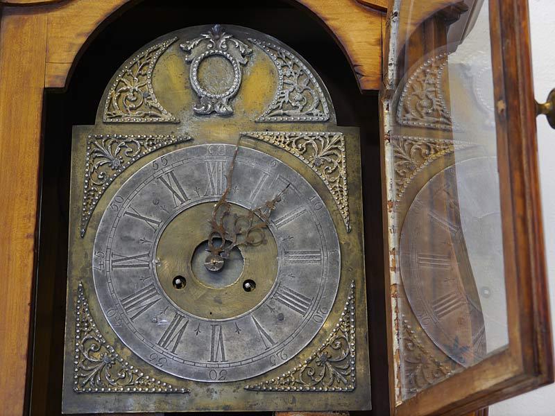 Standuhr Bodenstanduhr Uhr Antik 18. Jahrhundert aus Kirschbaum (6724) – Bild 6