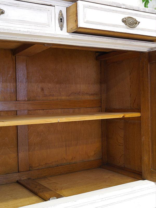 Buffet Buffetschrank Küchenschrank um 1920 in Shabby Chic weiß B: 121 cm (6737) – Bild 10