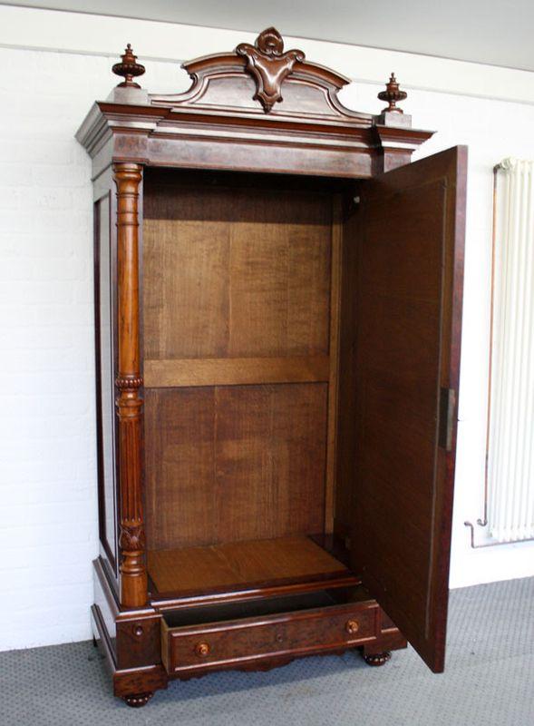 antiker Biedermeier Dielenschrank Spiegelschrank ca. 1870 – Bild 3