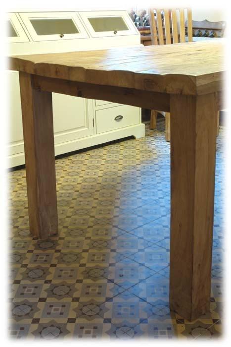 Tisch Esstisch Teak 240cm extra schwere rustikale Art (716) – Bild 5