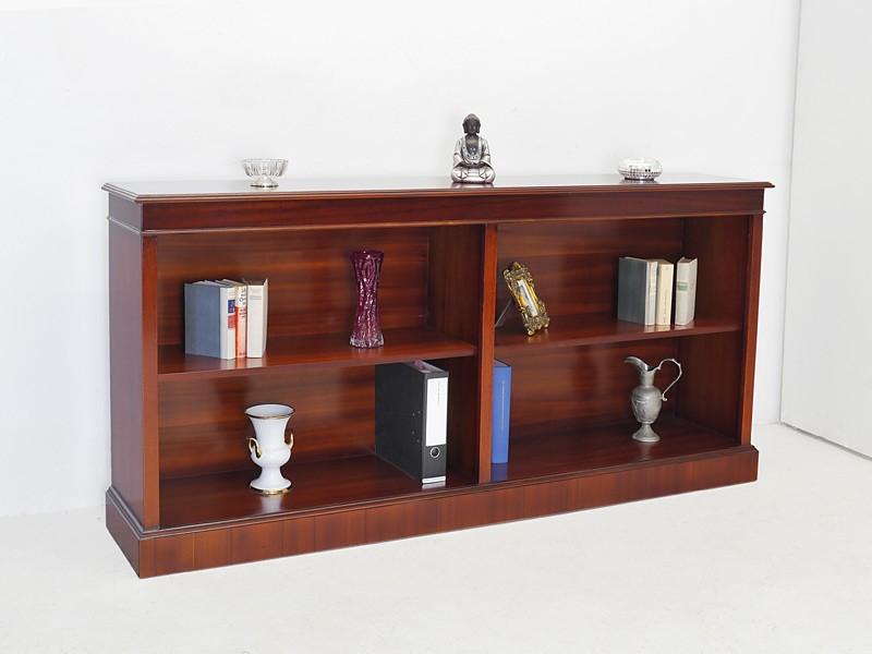 Regal Bücherregal Aktenregal Büro Mahagoni englischer Stil 93x200x36 cm (726) – Bild 5