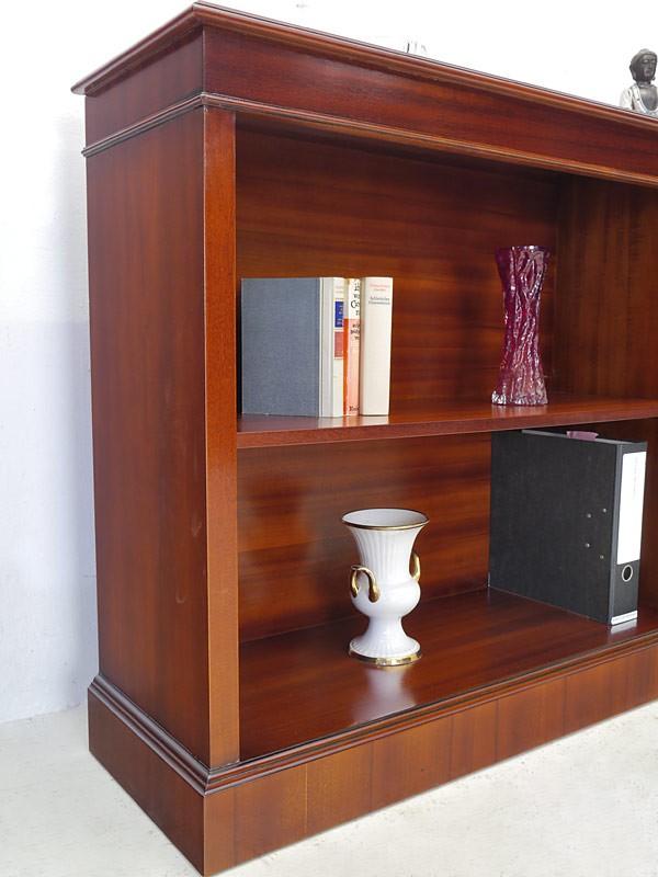 Regal Bücherregal Aktenregal Büro Mahagoni englischer Stil 93x200x36 cm (726) – Bild 3