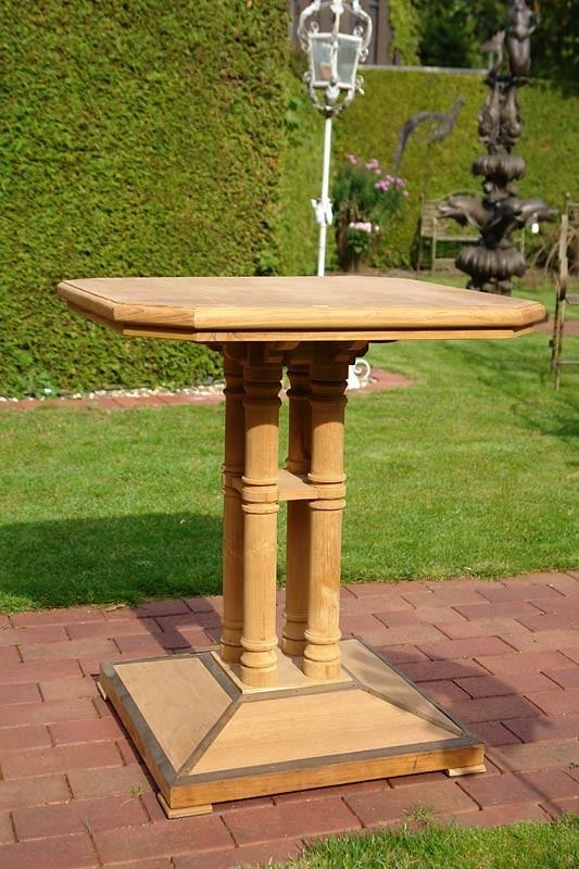 Bartisch GartentischTEAK Teakholz Natur Tisch (777) – Bild 3