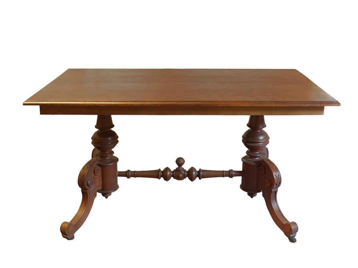 esstisch tisch speisetisch k chentisch gr nderzeit um 1880 auf rollen 799 m bel tische esstische. Black Bedroom Furniture Sets. Home Design Ideas