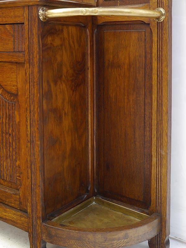 Garderobe Flurgarderobe Wandgarderobe Art Déco um 1930 aus Eiche B: 106cm (8238) – Bild 7