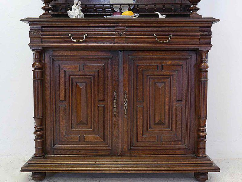 Buffet Schrank Küchenschrank Gründerzeit um 1880 aus Eiche B: 118 cm (8250) – Bild 8