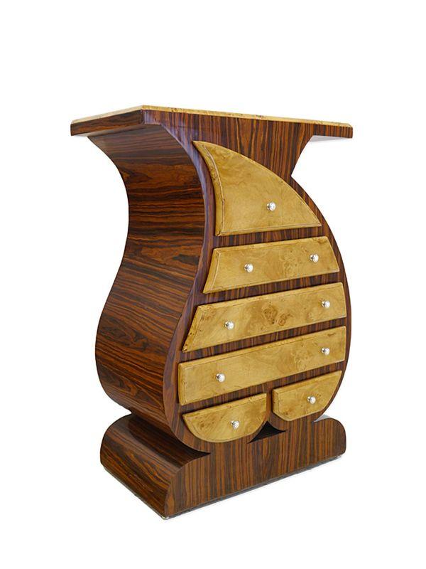 Kommode Art Déco Stil aus Palisander- und Vogelaugenahornfurnier (8255) – Bild 1