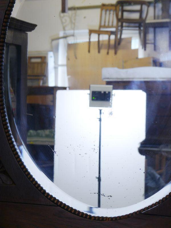 Buffet Buffetschrank Küchenschrank um 1920 aus Eiche B: 154 cm (8266) – Bild 5