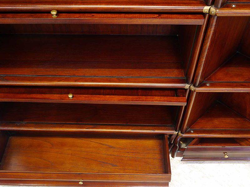 Wandregal Bücherregal Studio Globe Wernicke Bücherregalsystem Mahagoni (8281) – Bild 6