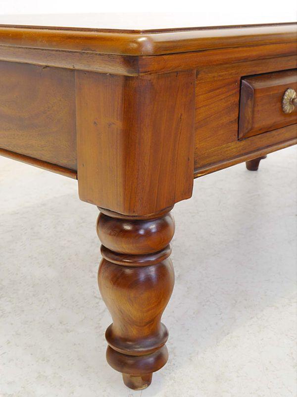 Couchtisch Wohnzimmertisch Tisch Antik Stil Massivholz Nussbaum-Farbton (8316) – Bild 4