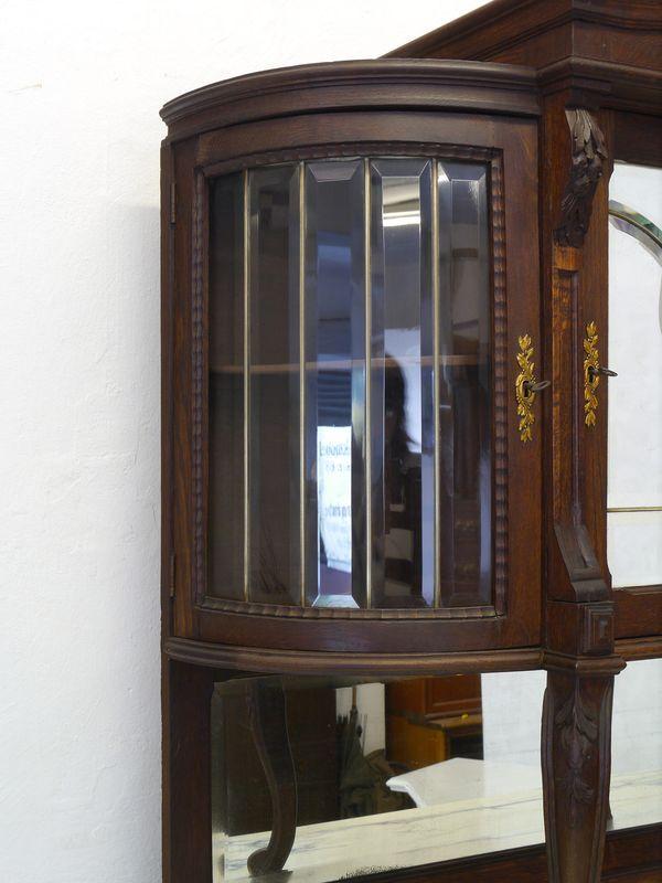 Buffet Buffetschrank Küchenschrank um 1920 aus massiver Eiche B: 120 cm (8331) – Bild 5