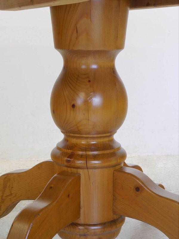 Tisch Esstisch Esszimmertisch rund Weichholz im antiken Stil D: 118 cm (8337) – Bild 5