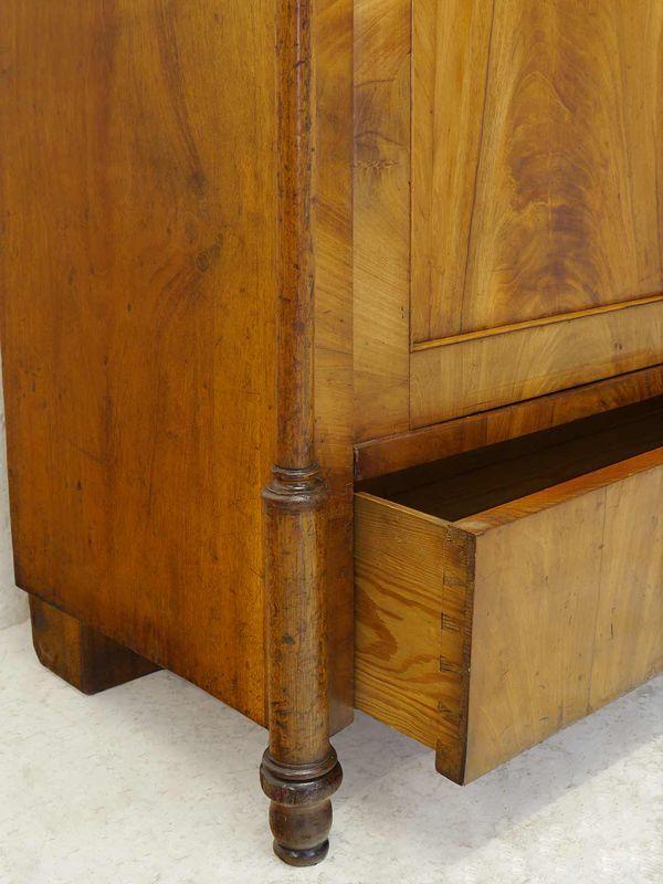 Schrank Vitrinenschrank Bücherschrank Biedermeier um 1840 Kirsche B:108cm (8353) – Bild 9