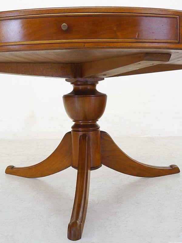 Tisch Wohnzimmertisch runder Couchtisch im Nussbaum-Farbton D: 100 cm (8384) – Bild 6