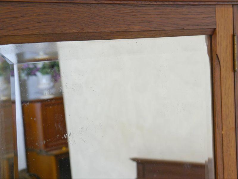 Spiegel Wandspiegel Frisierspiegel Antik um 1930 Eiche 3-teilig klappbar (8387) – Bild 4