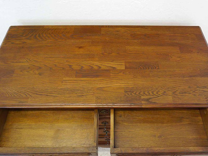 Kommode Anrichte Sideboard antik um 1920 aus Eiche massiv B: 113 cm (8397) – Bild 3