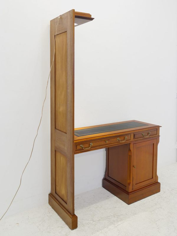 Wand Schreibtisch Wandschreibtisch Schreibtisch mit Beleuchtung Mahagoni (8427) – Bild 7