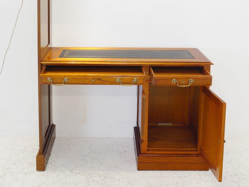 Wand Schreibtisch Wandschreibtisch Schreibtisch mit Beleuchtung Mahagoni (8427) – Bild 3