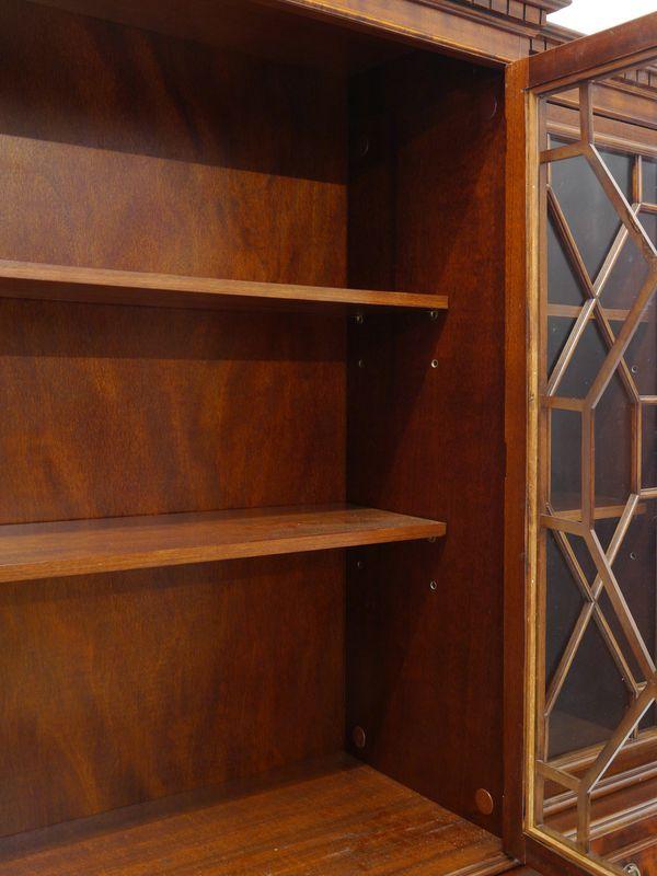 Vitrinenschrank Bücherschrank Vitrine Mahagoni furniert englischer Stil (8435) – Bild 4