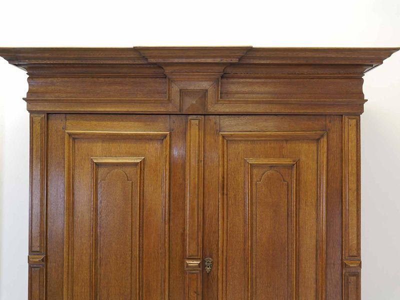 Kleiderschrank Dielenschrank Schrank antik um 1810 massiv Eiche B: 191 cm (8460) – Bild 6