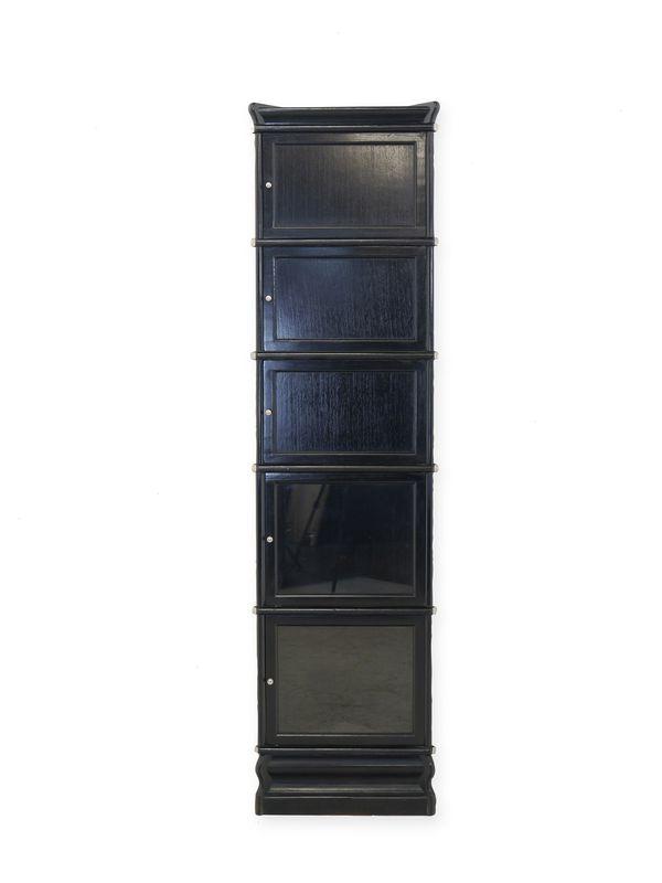 Eckregal Studio Globe Wernicke in schwarz aus Mahagoni (8465) – Bild 1