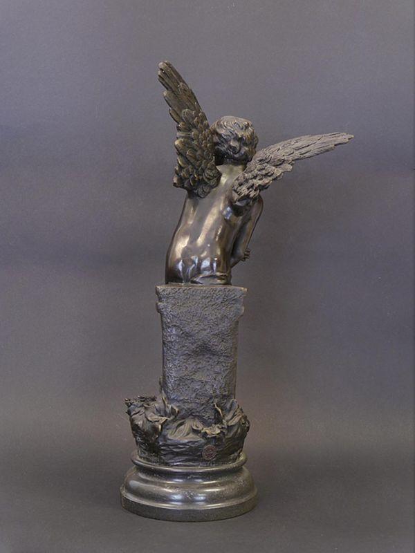 Bronze Figur Skulptur Putte Engel Amor mit Bogen 45x23x14 cm (8447) – Bild 2