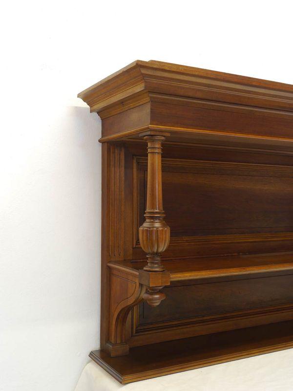 Wandregal Hängeregal Regal Gründerzeit um 1900 aus Nussbaum  B: 137 cm (8512) – Bild 3