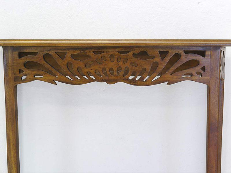 Konsolentisch Wandkonsole Wandtisch antiker Stil Nussbaum-Farbton B: 80cm (8544) – Bild 4